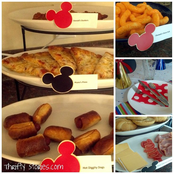 Disney/Mickey Mouse themed party food :)