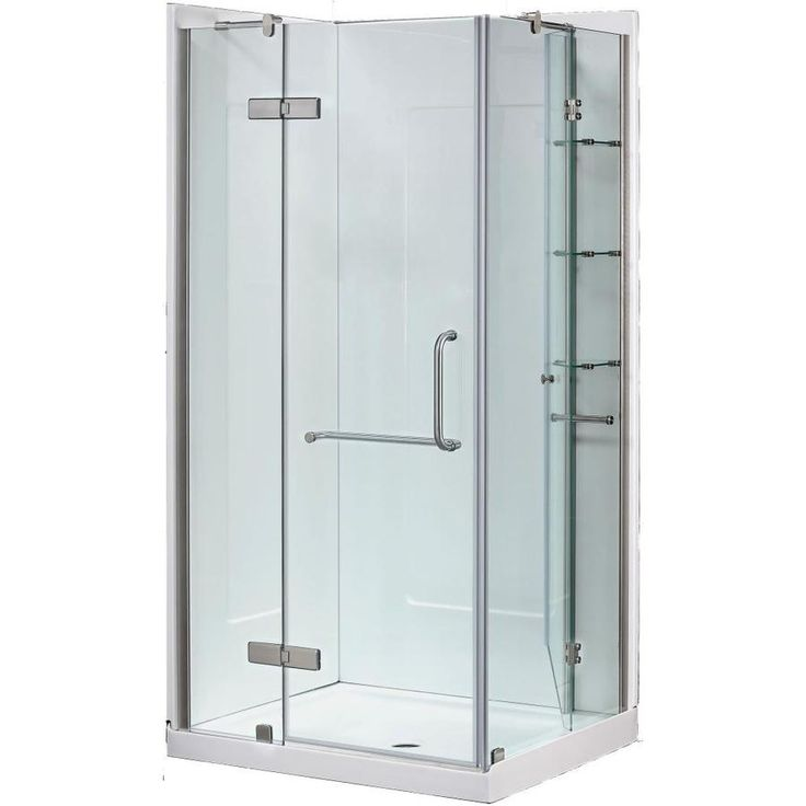 ove decors savannah brushed nickel walls not included wall floor rectangle 1piece corner shower