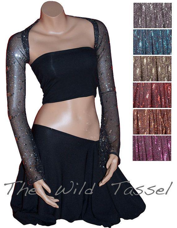 Dance Shrug YOUR SIZE: Custom Made Glitter Mesh Belly ...