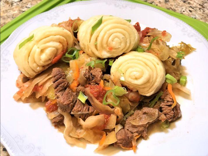 между штруделя с мясом картофелем капустой фото рецепт встречается версия