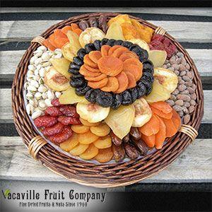 Vacaville Fruit Company®  70 oz. Dried Fruit and Nut Basket  $40 delivered
