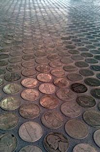 DIY Penny Floor » Sally Jensen Interiors