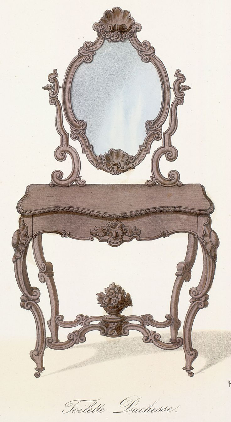 Rococo furniture sketch - Http Www Sil Si Edu Digitalcollections Art
