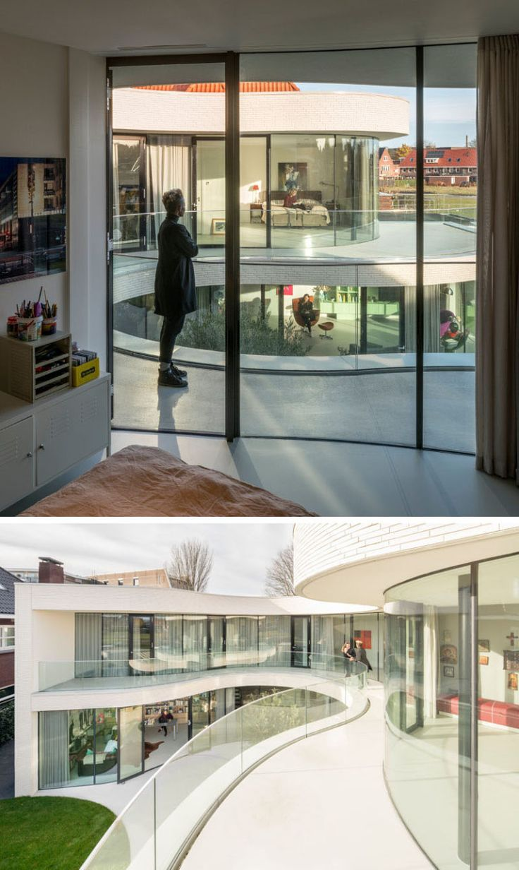 Dutch Curvature Modern House Has A Curved Construction To: 25+ Best Ideas About Curved Glass On Pinterest