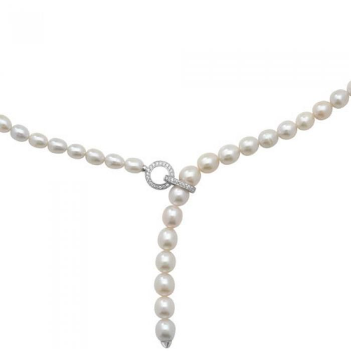 SINGLE ROW FRESHWATER PEARL NECKLACE WITH ADJUSTABLE CLASP - Attenborough Pawnbrokers & Jewellers