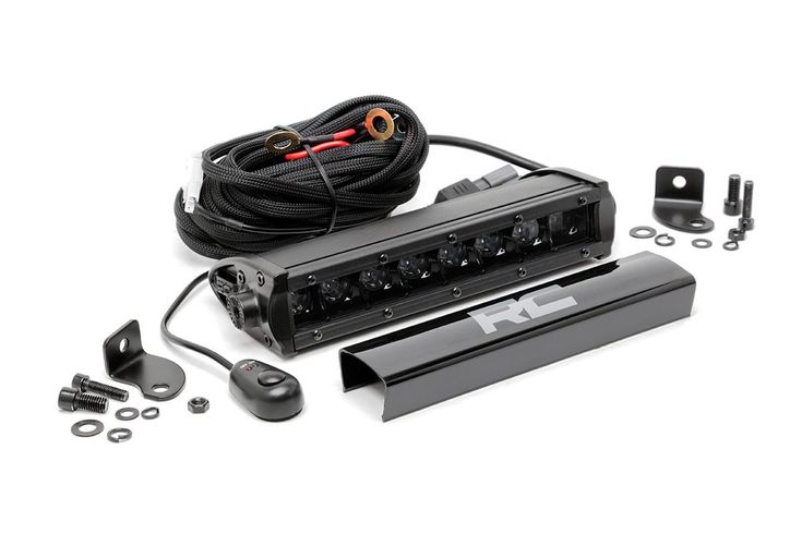 8-inch Cree LED Straight Light Bar (Pair) [70718BL] | Rough Country Suspension Systems®