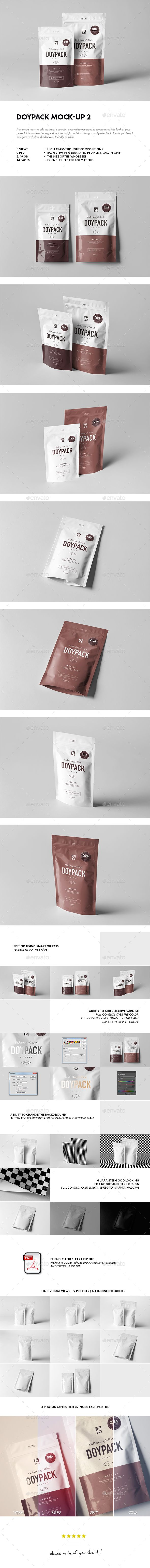 Doypack Mock-up 2 by yogurt86 DOYPACK MOCK-UP 2 Advanced, easy to edit mockup. It contains everything you need to create a realistic look of your project. Guar