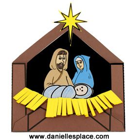 Baby Jesus in a Manger Printable Envelope Christmas Craft for Kids  - directions on  www.daniellesplace.com