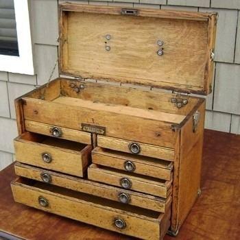 Vintage Wood Tool Union Tool Chest Works Style B Vintage