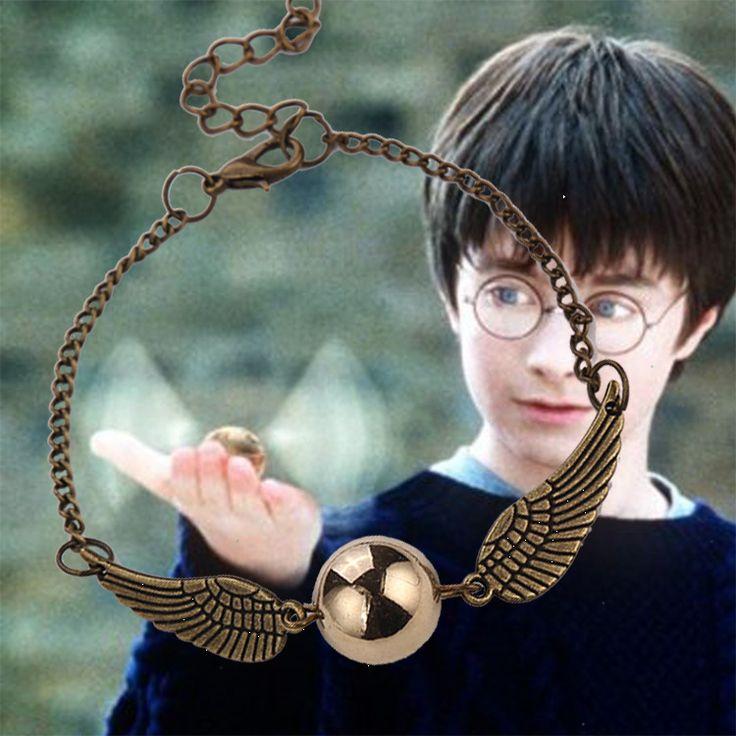 Гарри Поттер золотой снитч браслет