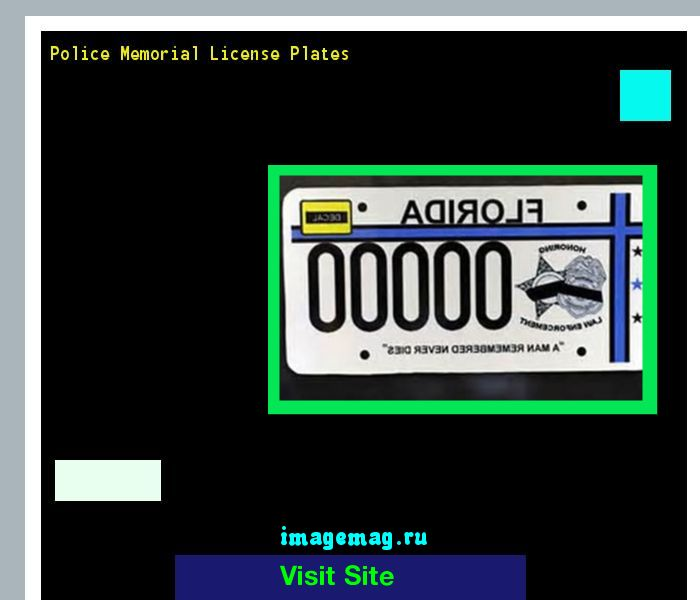 Police memorial license plates 154225 - The Best Image Search