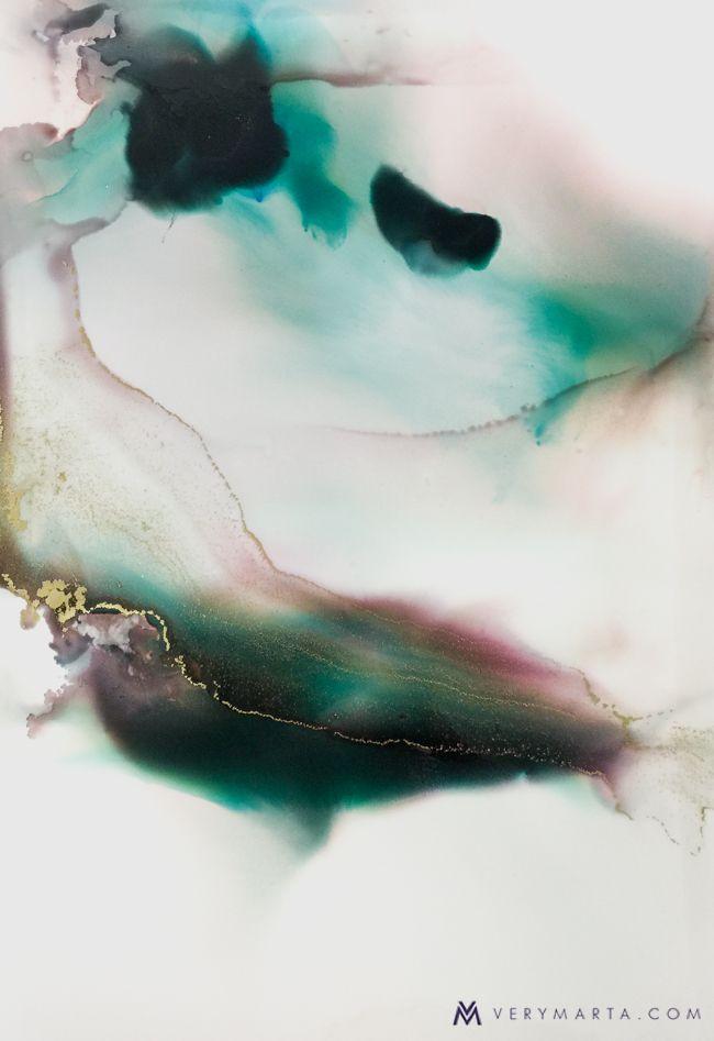 Watercolor Abstract Art Rivers Marta Spendowska Verymarta