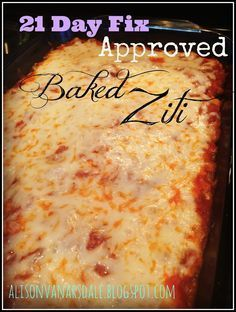21 Day Fix approved Baked Ziti. Finally! 21 Day Fix approved pasta recipes!