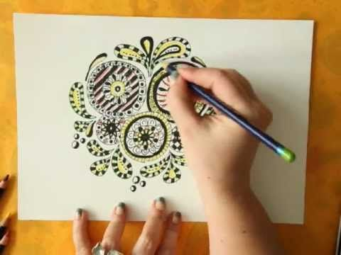 HowTo Coloring Doodles With Derwent Inktense Pencils