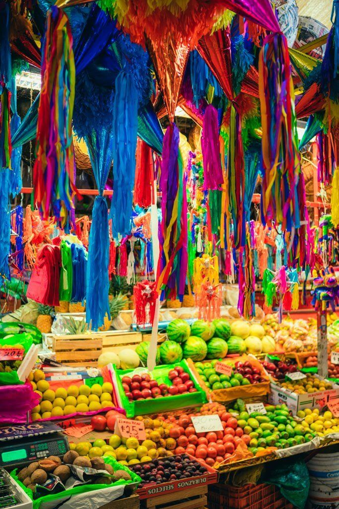 Colorful Market in Mexico City