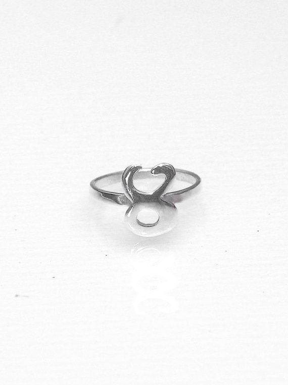 Taurus Ring  Zodiac Ring  Knuckle Ring  by profoundgarden on Etsy