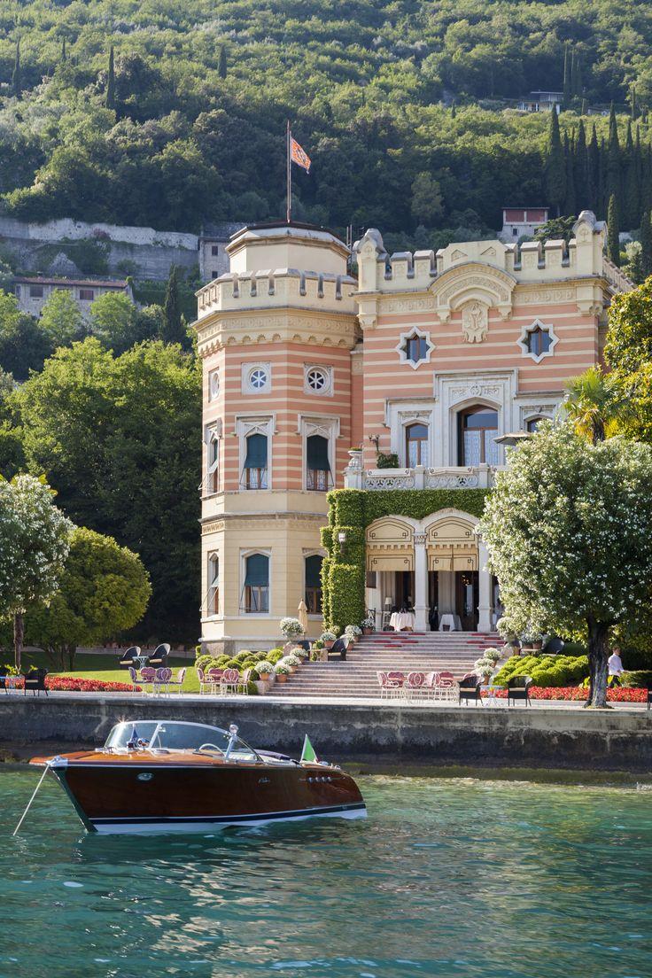 The Lake Garda in front of Villa Feltrinelli. #villafeltrinelli #grandhotel #view #boat #lake #garda #relax #italy