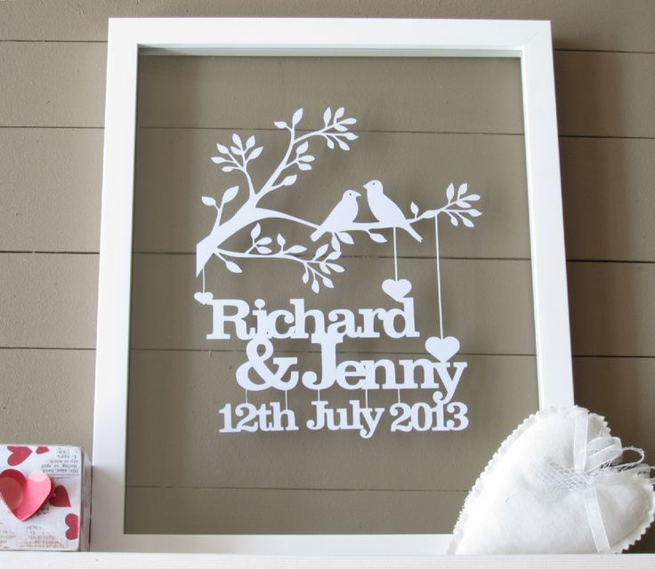 Personalised Wedding Gift Art : exclusively for you. It makes a wonderful wedding or anniversary gift ...