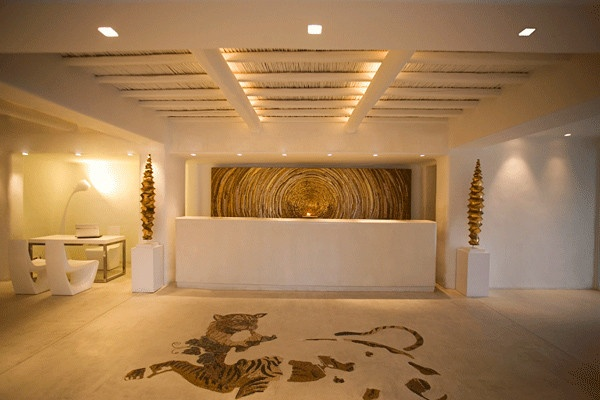 A Fun And Modern Hotel Lobby And Reception Desk Hotels