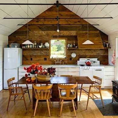 """Tiny Home (Could be an outstanding """"She Shed"""". Would have more comfortable chairs around the table.)"""
