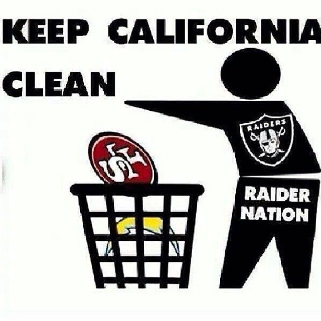 Keep Cali Clean / Raider Nation  Haaa! Raider nation 4 life