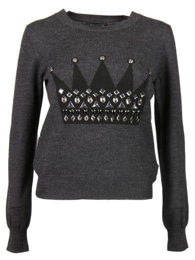 MARKUS LUPFER Markus Lupfer Crown Jewels Sweater. #markuslupfer #cloth #sweaters