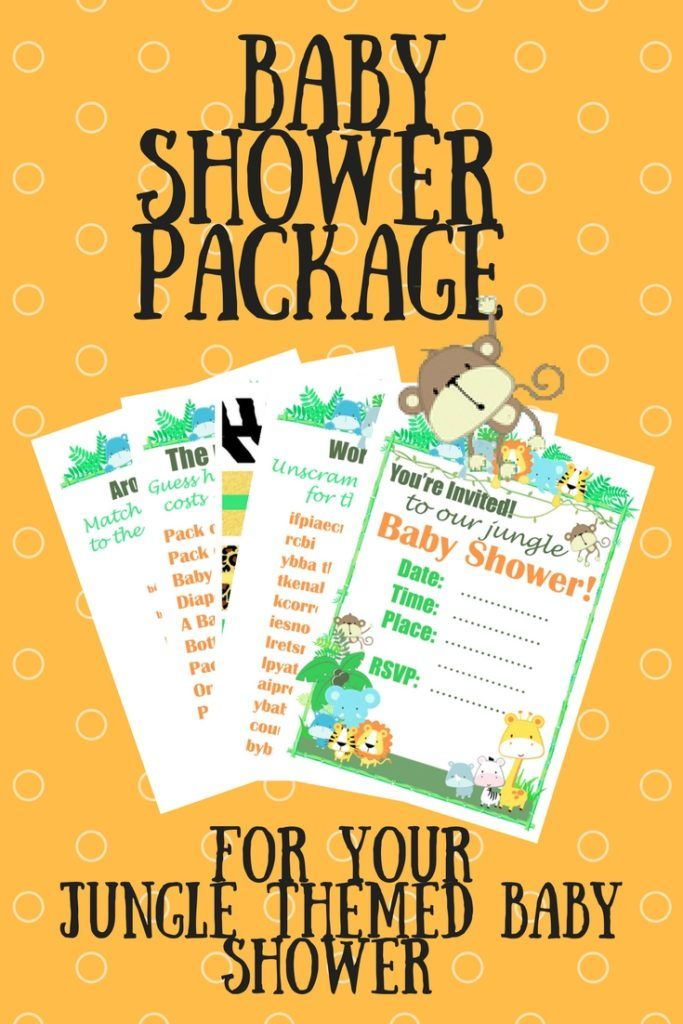 10 Best Baby Shower Printable Packages Images On Pinterest
