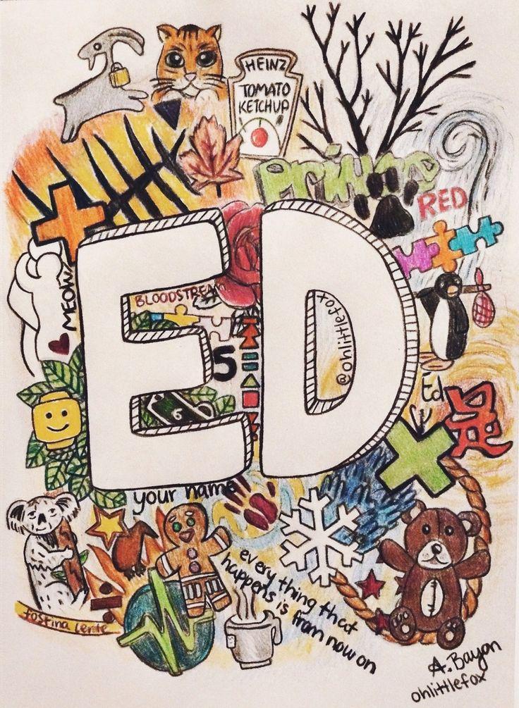 ed sheeran art ohlittlefox drawing fanart colors tattoos ed ...