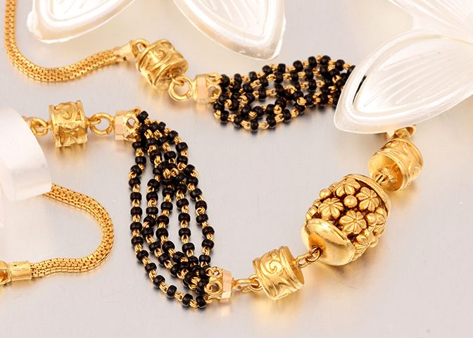 Beautiful flower work gold bead
