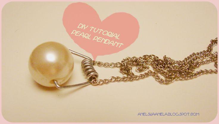 DIY tutorial pearl pendant  diy perłowa zawieszka
