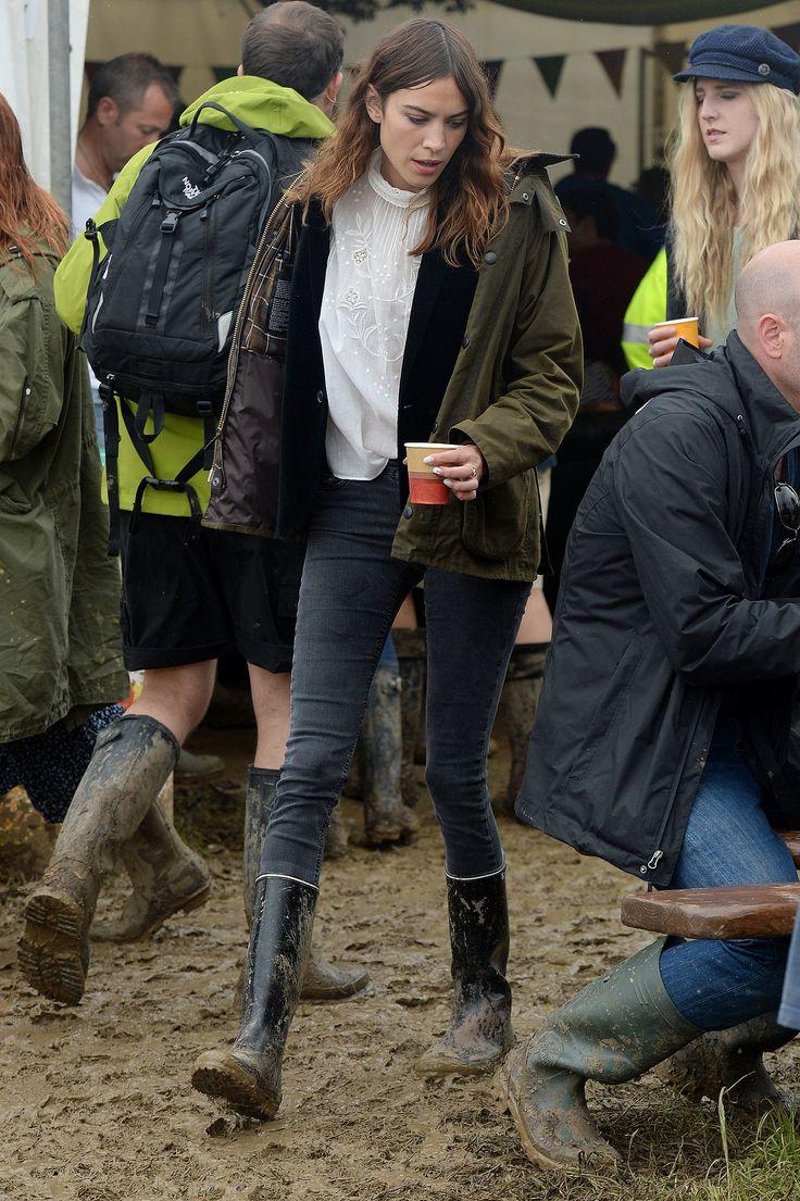 Alexa Chung at the 2014 Glastonbury music festival.