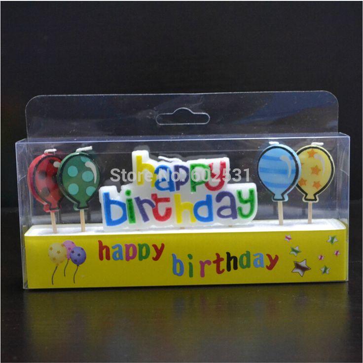 С днем рождения и шары творческих бездымного торт ко дню рождения свечи письма свечи творческий торт свечи ну вечеринку украшения