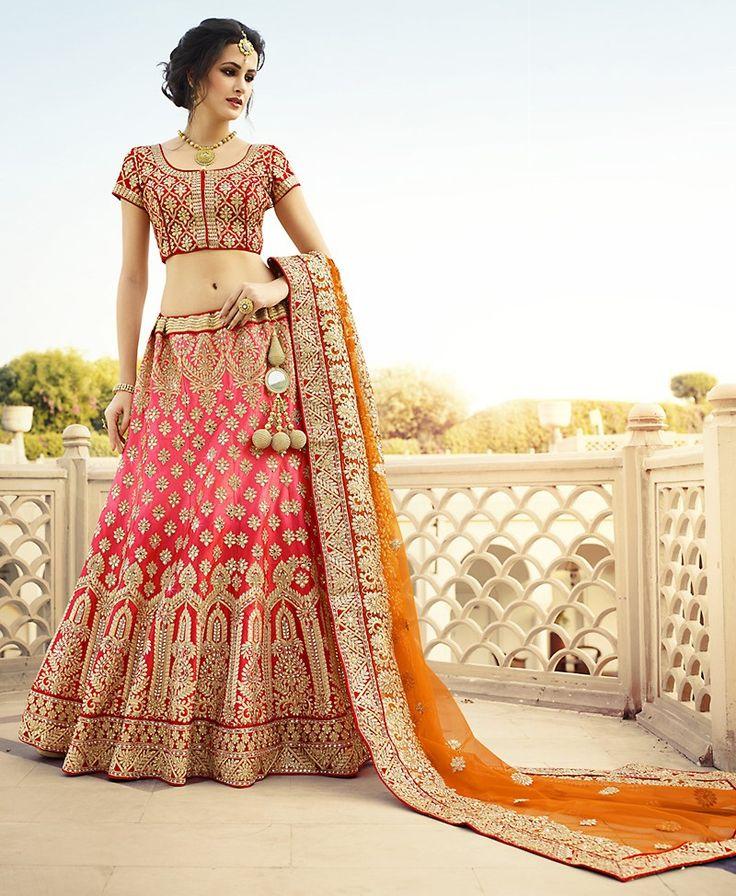 Astounding A Line Lehenga Choli in Art Silk Fabric This attire is nicely made with Resham & Butta Work work.  #lushika #lehenga saree #wedding cholis #indian #cholis #partywear #musthave #shopnow