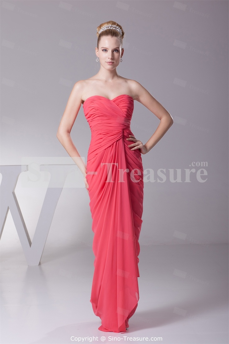 10 best images about bridesmaid dress final picks on pinterest watermelon chiffon sweetheart sheath column floor length bridesmaid dress 2013 wholesale price us ombrellifo Image collections