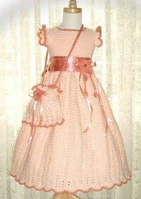 Vestidos de fiesta para nina tejidos