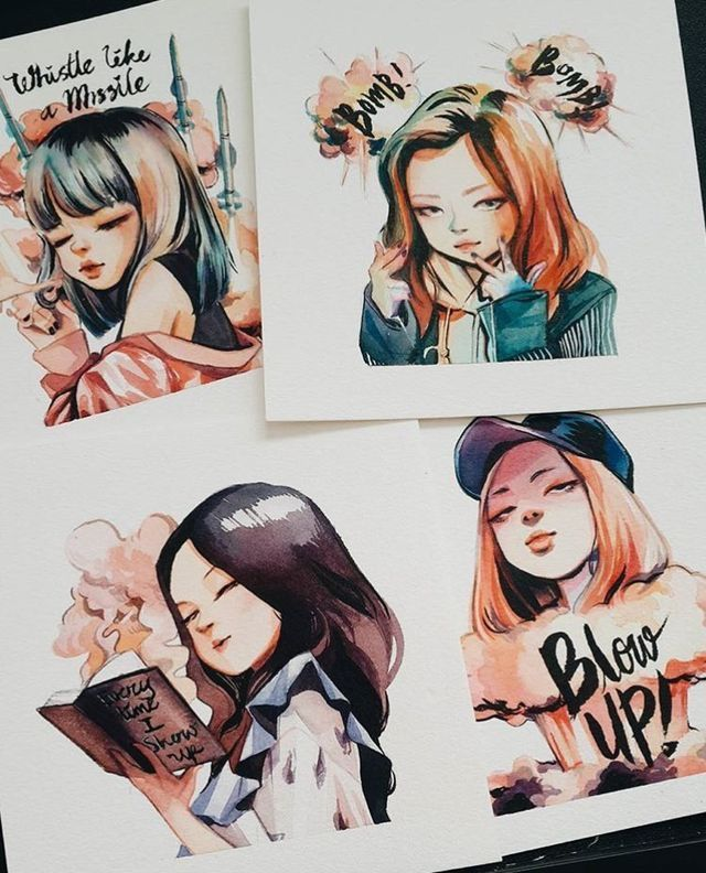 blackpink fanart | credit to owner