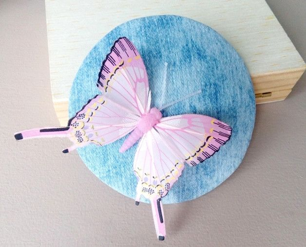fascinator with butterfly