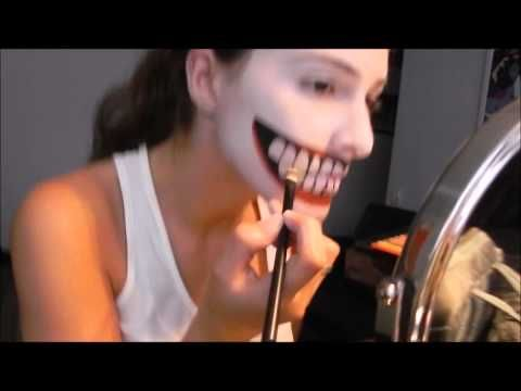 Freaky as heck...Joker makeup tutorial.