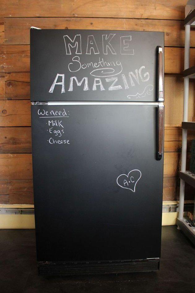 4 Step Chalkboard Fridge Makeover With Images Fridge Makeover