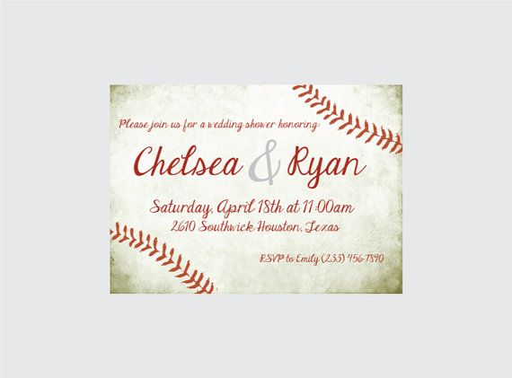 Hey, I found this really awesome Etsy listing at https://www.etsy.com/listing/225463792/baseball-wedding-shower-invitation