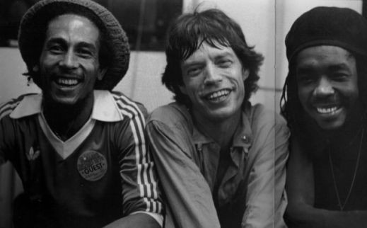 Bob Marley, Mick Jagger, and Peter Tosh