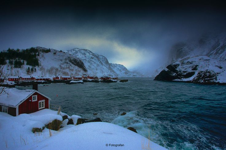 """Nusfjord Winterstorm by Fotografan  on 500px Nusfjord is one of Norway's oldest and best-preserved fishing hamlets with a long-standing tradition of """"Lofotfiske""""."""