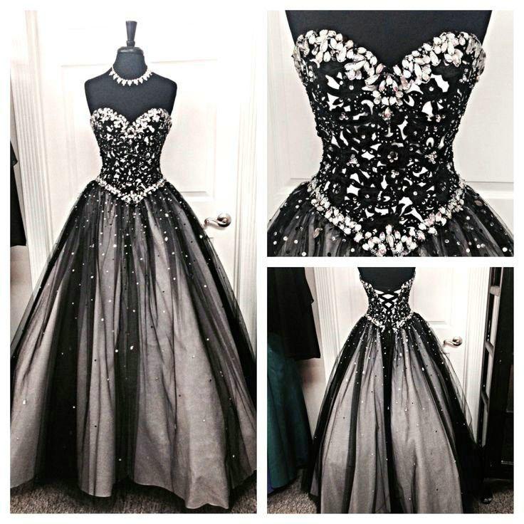 Black Prom Dresses Floor Length pst0330