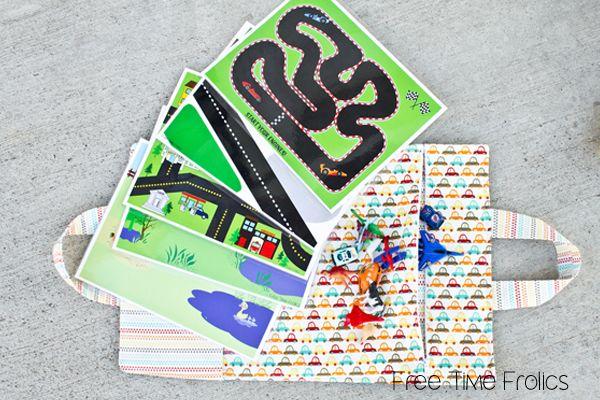 Printable Playmats - dinosaur and farm.