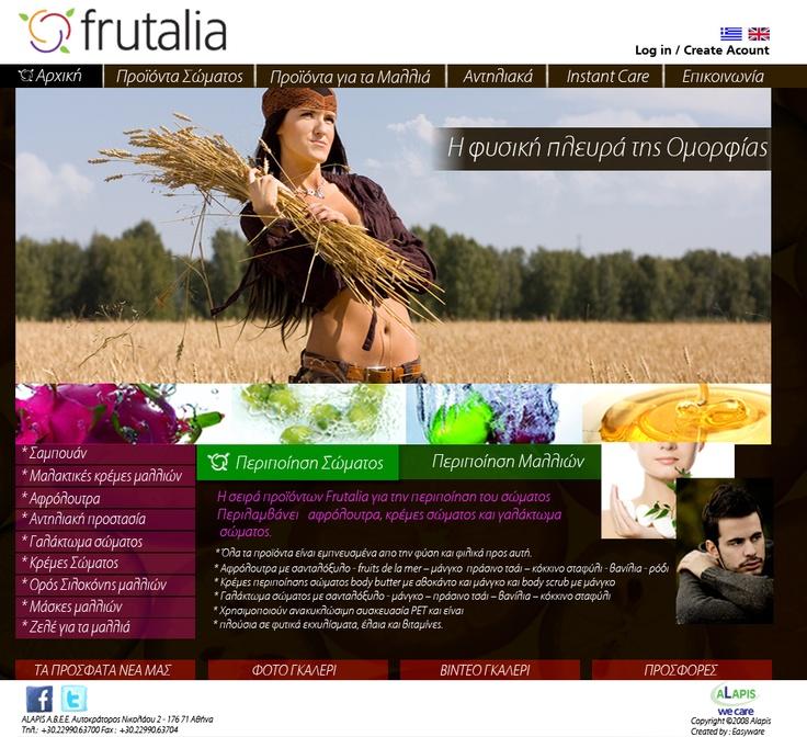 Frutalia website