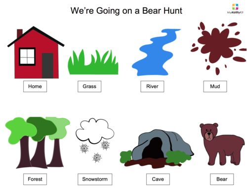 free song board visual we 39 re going on a bear hunt song visual aids bear hunt song bear. Black Bedroom Furniture Sets. Home Design Ideas