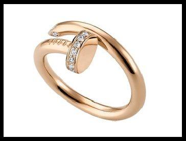 Nail shaped Cartier ring.