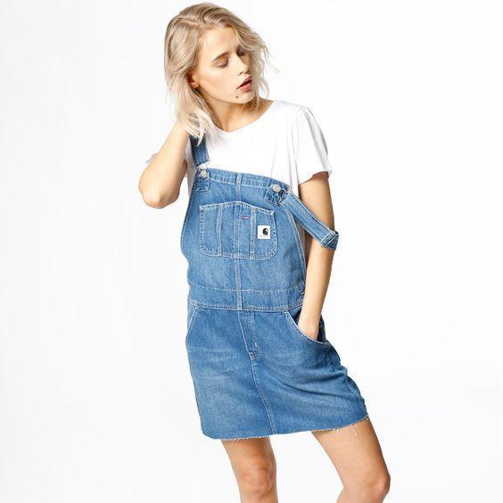 Das Super Süße Jeans Latzkleid 2019 Damenmode für Sommer – Schone_Kleider – -…