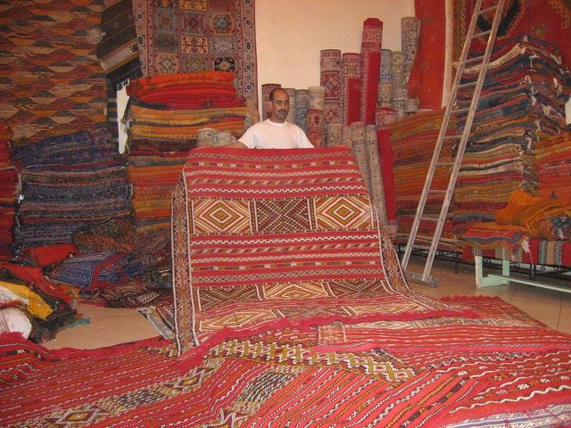 The Medina in Marrakech, Morocco: Inside a Carpet Shop, Medina, Marrakech