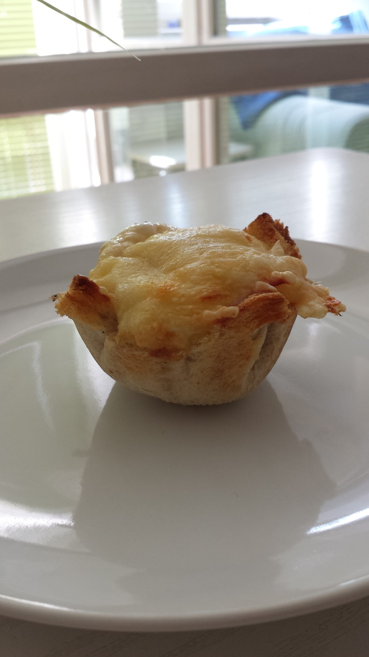 Baked and photographed by MSN My version of Croque Madame Muffins by Rachel Khoo
